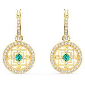 Swarovski Symbolic Mandala Hoop Pierced Earrings